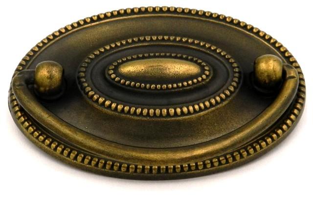 "4 Vintage Brass Drop Bail Style Drawer Pulls Handles NOS 3 1//2/"" Center To Center"