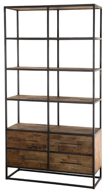 Upcycled Bookcase With Drawers