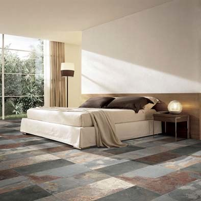 EcoThin Multicolor Slate Look Contemporary Bedroom