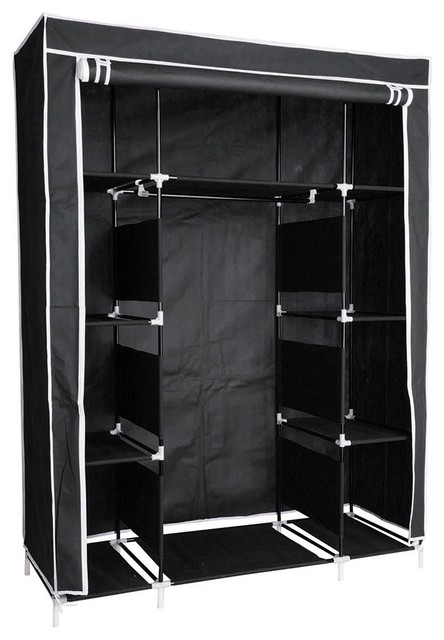 50 Portable Closet Wardrobe Clothes Organizer Contemporary Organizers By Yescom