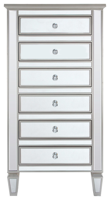 Attirant Louis Tall Mirrored Cabinet