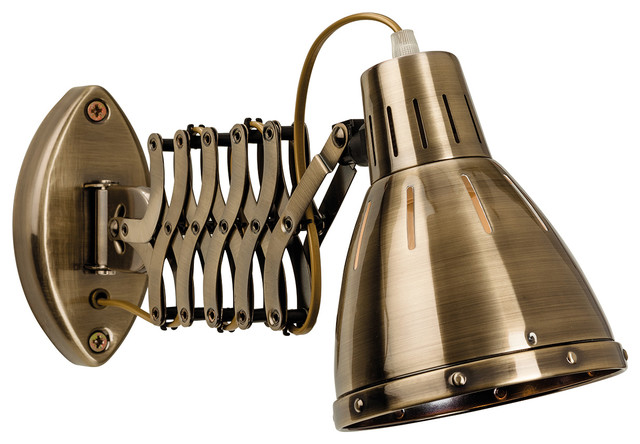 Adjustable Wall Lights Contemporary : Bow Retro Adjustable Wall Light - Contemporary - Wall Lights - by Firstlight Products