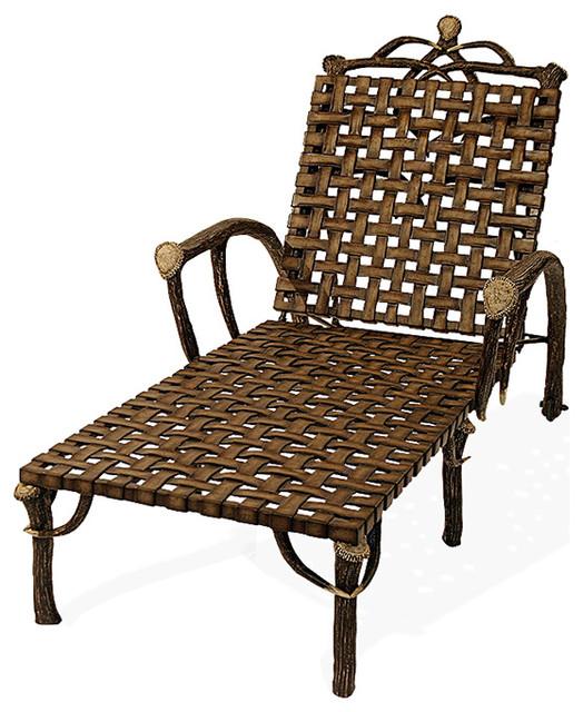 Lazy cf ranch cast aluminum antler chaise lounge outdoor for Cast aluminum outdoor chaise lounge