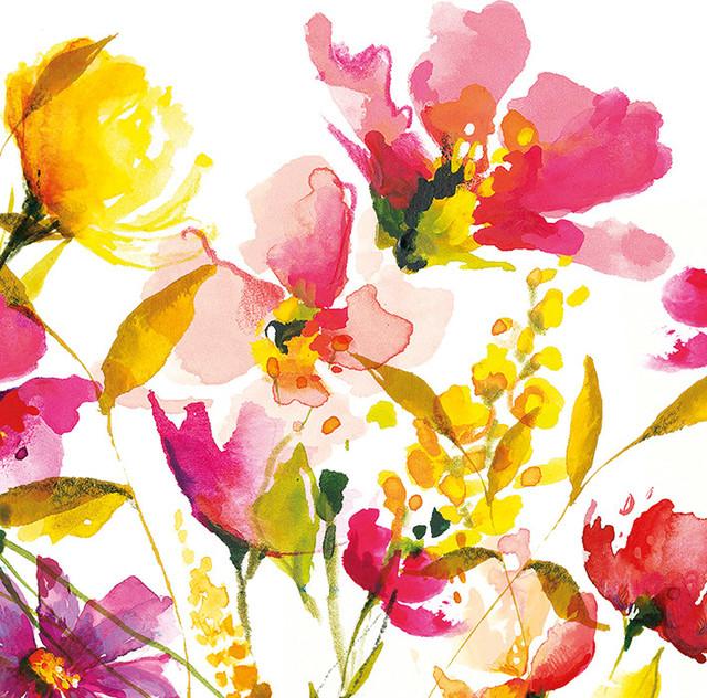 """Summer Scent"" Printed Canvas by Nicola Evans, 40x40 cm"