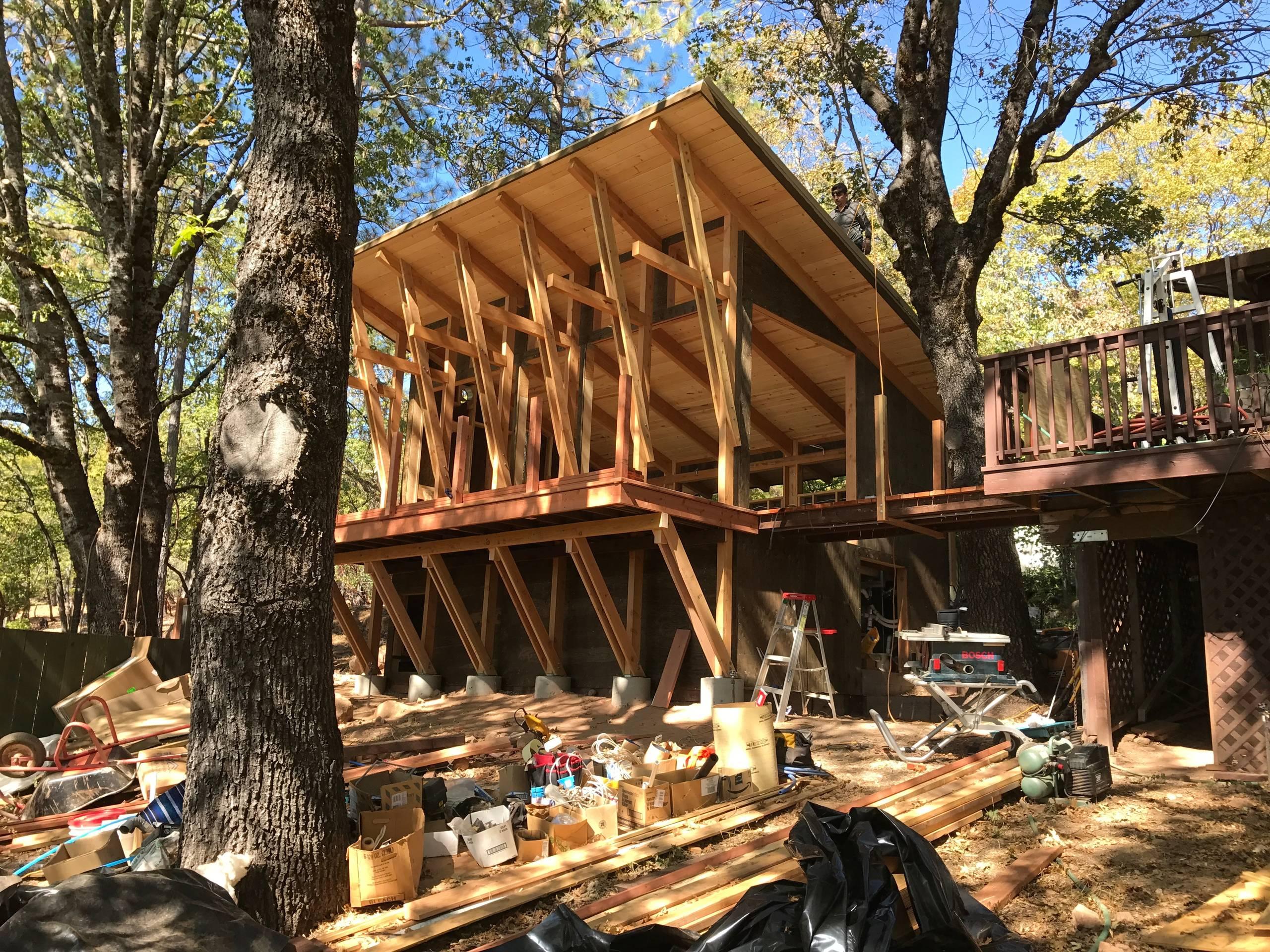 Cobb Mountain Pool House - construction photo