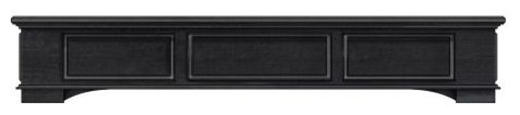 Cambridge Mantel In Antique Black Finish, 60.
