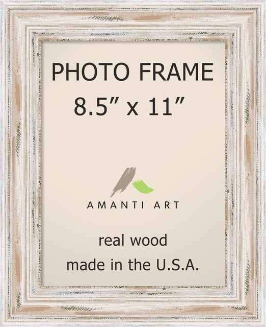 Picture Photo Frame 85x11 Alexandria White Wash Outer Size 12