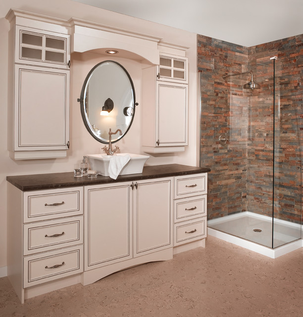 Bathroom storage and sink traditional montreal by for Armoire cuisine action