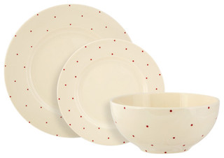 Fairmont and Main Little Red Dot Dinner Set - Contemporary - Dinnerware Sets - by Fairmont and Main  sc 1 st  Houzz & Fairmont and Main Little Red Dot Dinner Set - Contemporary ...