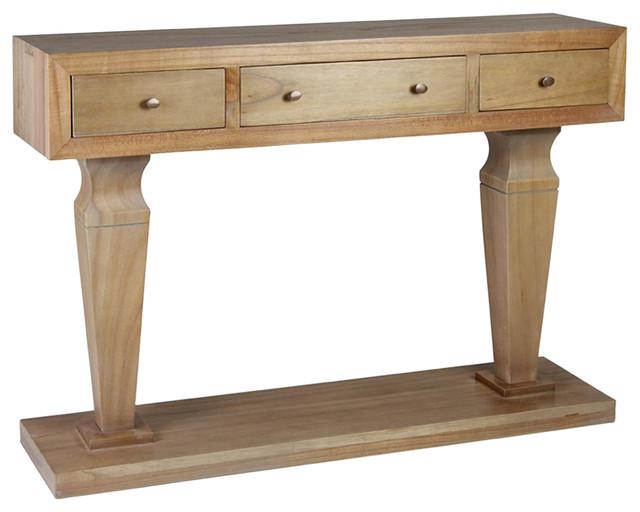 Kaki Wooden Console Table