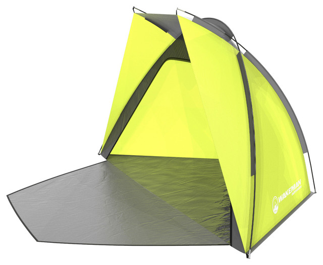 Green Beach Tent, Sun Shelter For Shade With Uv Protection By Wakeman Outdoors.