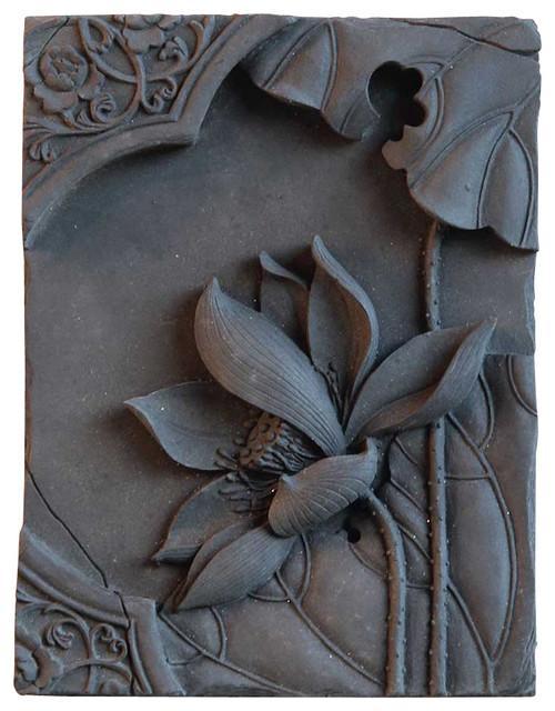 Decorative Wall Plaques lotus decorative wall plaque - asian - home decor -vintagemaya