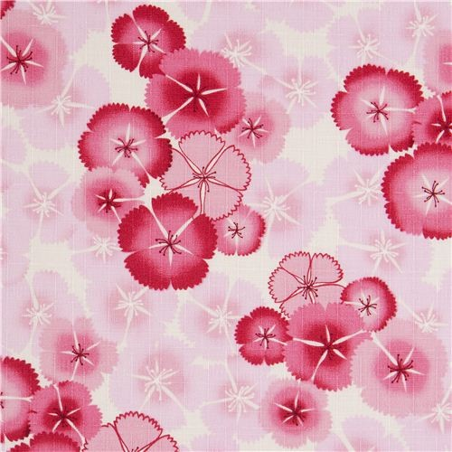 Kokka fabric with pink cherry blossoms flower Japan