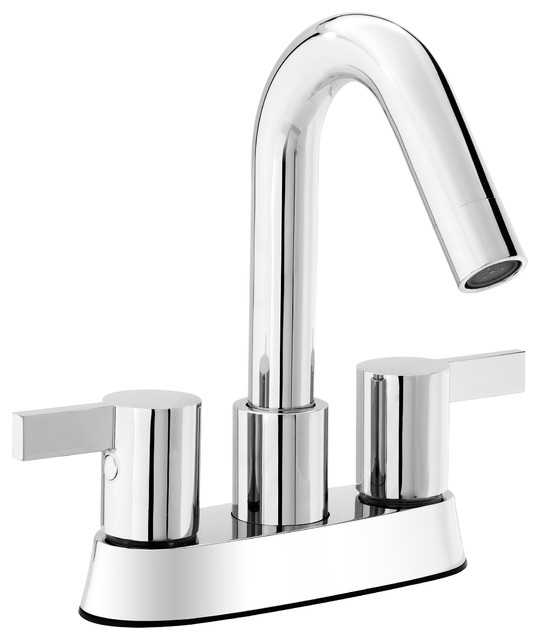 sink faucet. Belanger Bathroom Sink Faucet  Polished Chrome Finish 2 Handles 4 Centerset