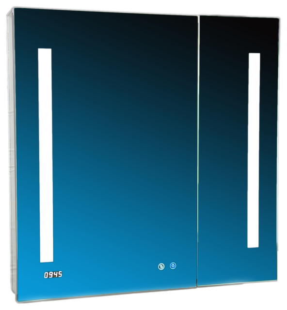 "Aquadom 30"" X 30"" Signature Royale 3d Led Lights Medicine Cabinet/defogger."