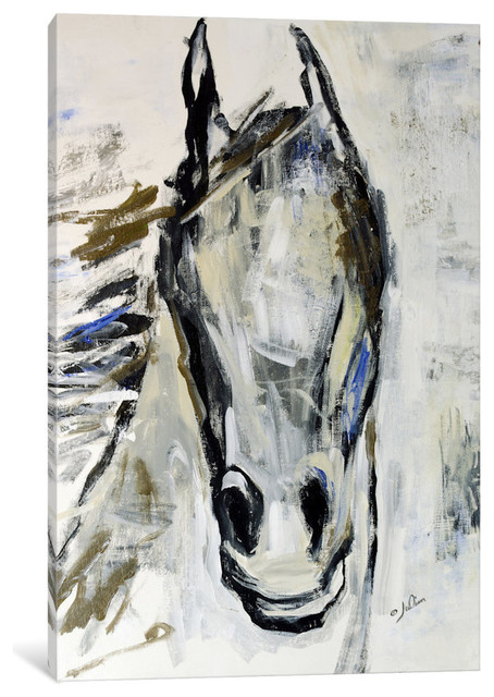 """picasso&x27;s Horse I"" Print By Julian Spencer, 40""x26""x1.5""."