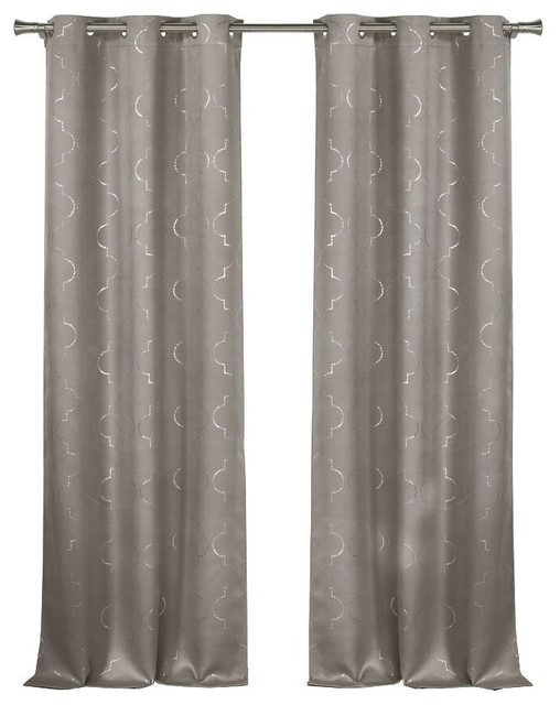 Stephanie Blackout365 Grommet Pair Panel, Set Of 2, Gray.