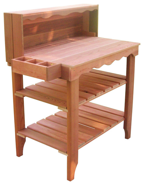Wood Country - Deluxe Potting Bench - View in Your Room! | Houzz