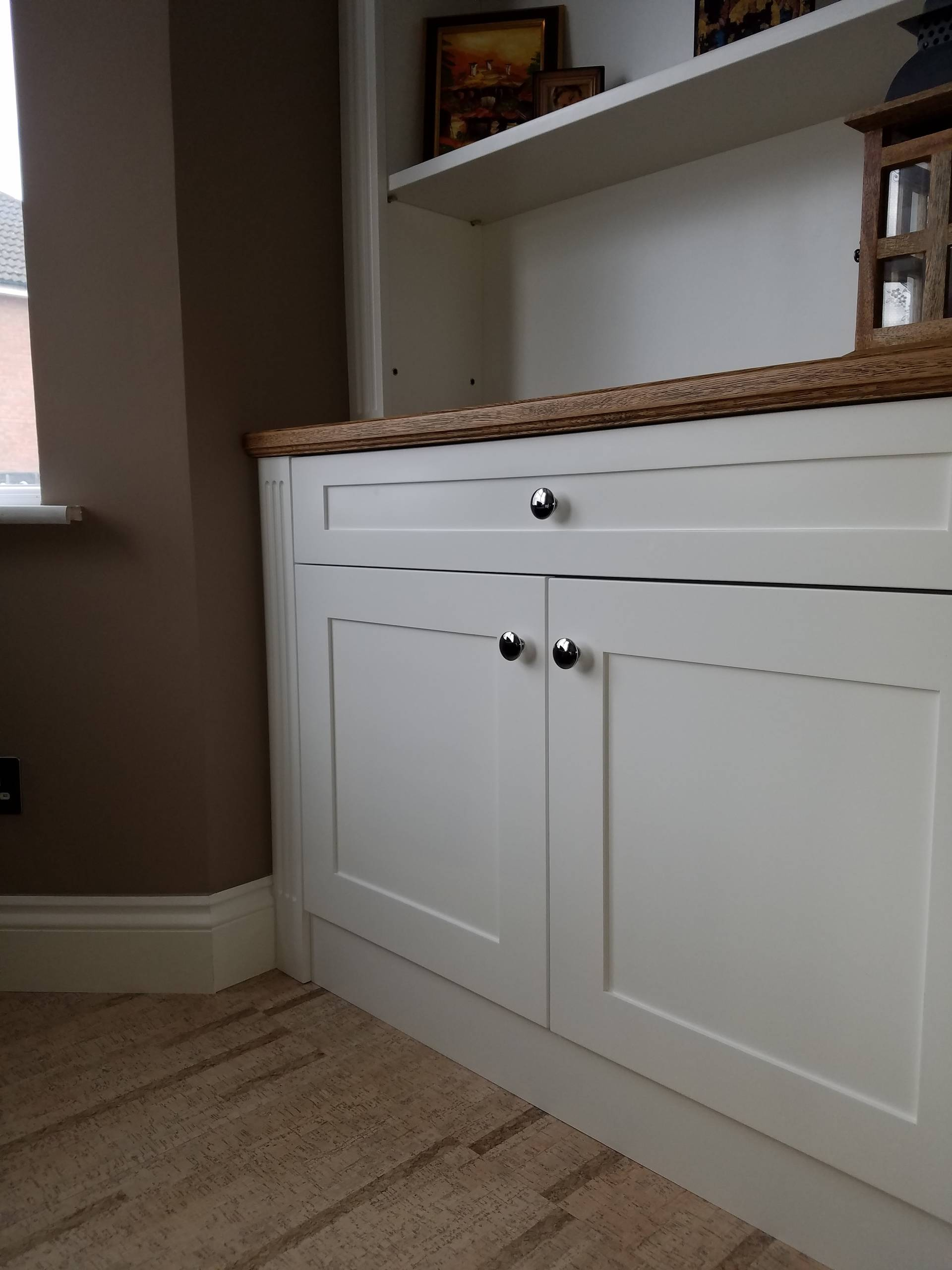 Alcove bookcases and  cupboards