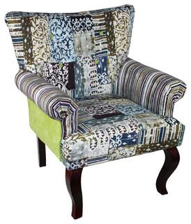 Enthralling and Lovely Fabric Wooden Chair