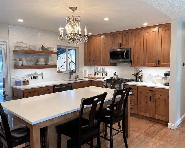 Kitchen Remodel Rustic Alder Aurora, Kitchen Cabinets Aurora Co