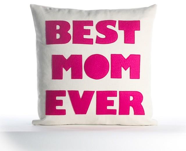 Alexandra Ferguson Best Mom Ever Pillow - Pink
