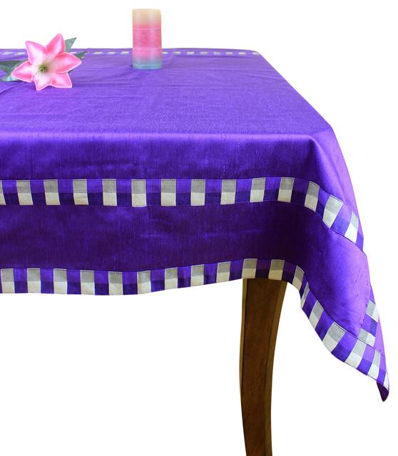 Modern Squares Rectangular Tablecloth   Contemporary   Tablecloths   By  Banarsi Designs