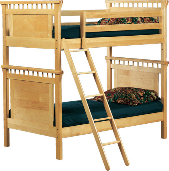 Bennington Twin Bunk Bed Natural Transitional Bunk Beds By