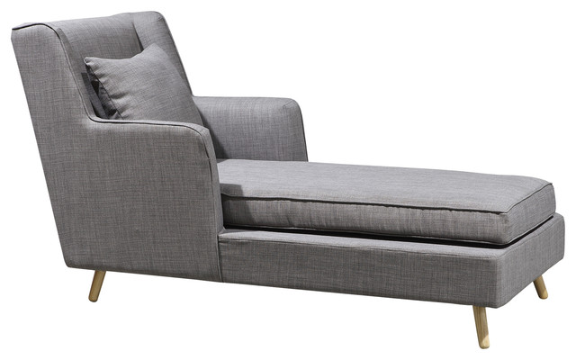 Leona Chaise Lounge, Gray.