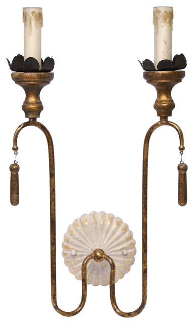 Layla French Country 2 Light Wall Sconce Traditional Sconces By Lighting Boutique Plumbing Hardware