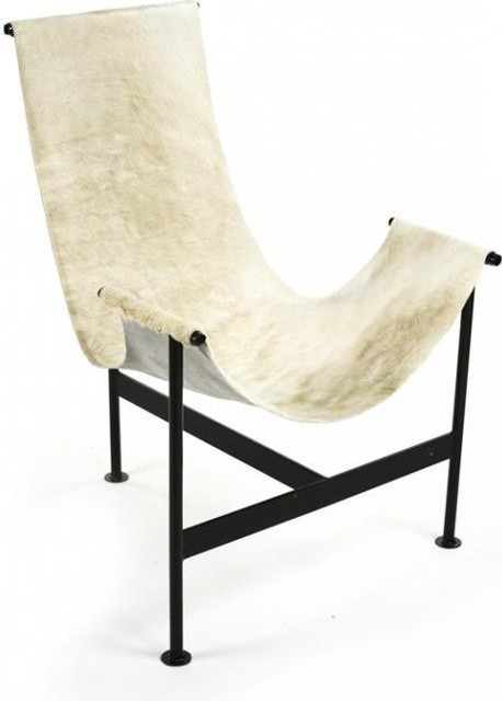 Hide Leather Zt-76 Lounge Chair by EuroLuxHome