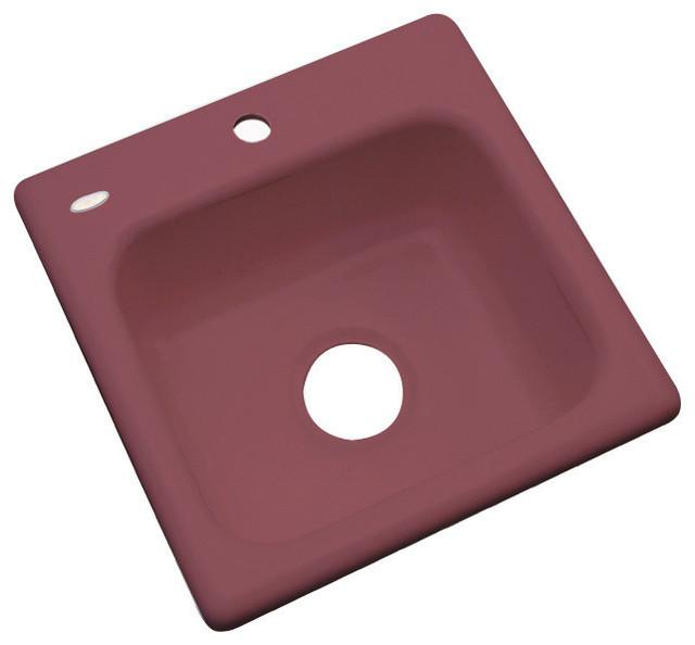 Aspen 1-Hole Bar Sink, Raspberry Puree