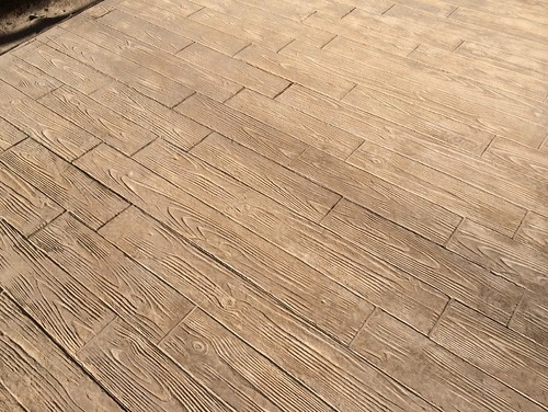 Terrasse en beton imprim bois - Terrasse beton empreinte bois ...
