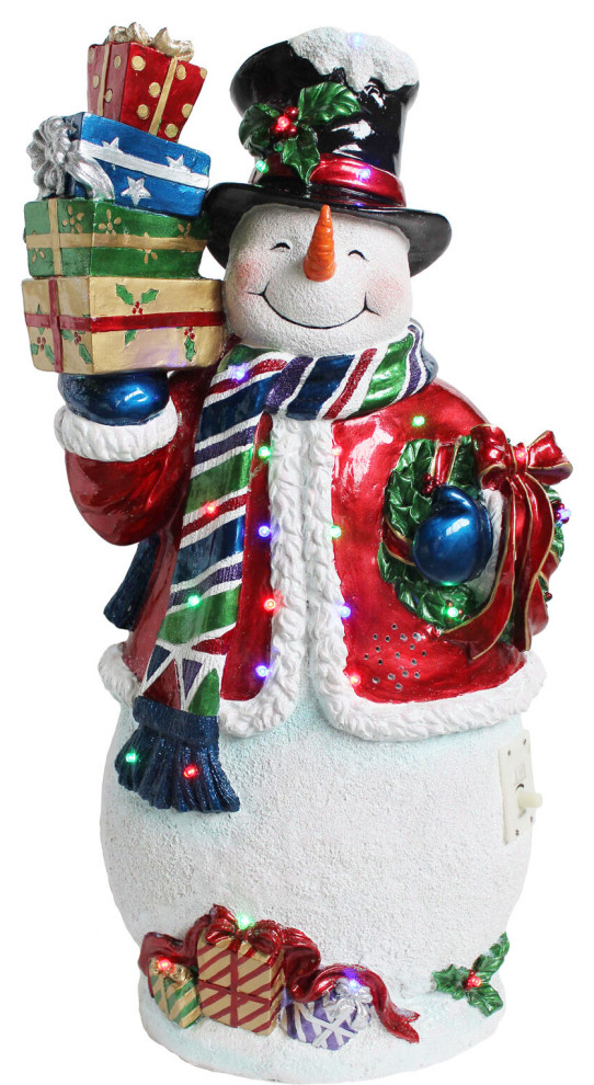 Indoor Covered Outdoor 2 Musical Resin Snowman Led Lights Outdoor Holiday Decorations By Almo Fulfillment Services