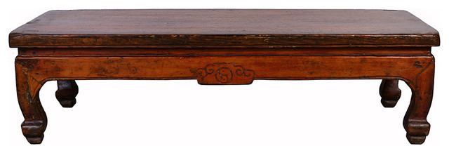 Consigned Chinese Antique Carved Kang Table/Coffee Table