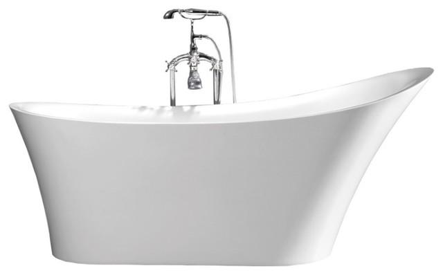 67&x27;&x27; Rubeza C-3149 Acrylic Freestanding Bathtub.