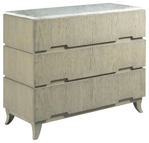 Hall Chest in Distressed Gray Finish