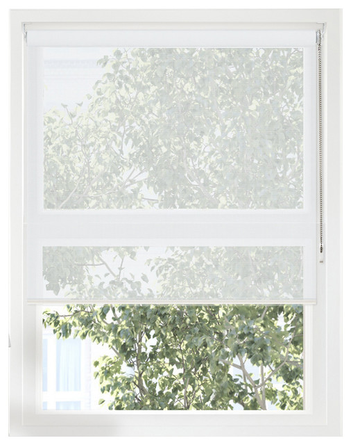 "Continuous Loop Beaded Chain Roller Shades, Uv Ray Blocking, 48""x72."