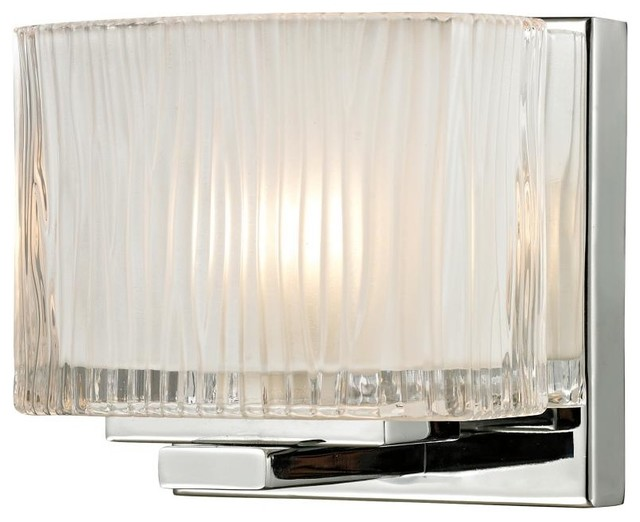 Vanity Lights Contemporary : Elk Lighting 11630/1 Chiseled Glass 1-Light Bathroom Sconce - Contemporary - Bathroom Vanity ...