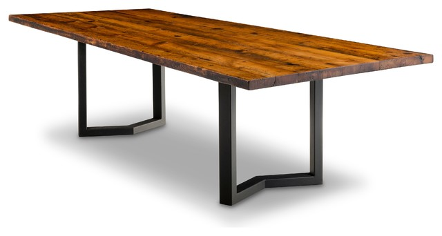 Lakefield Reclaimed Pine Table, 42x72 Rustic Dining Tables