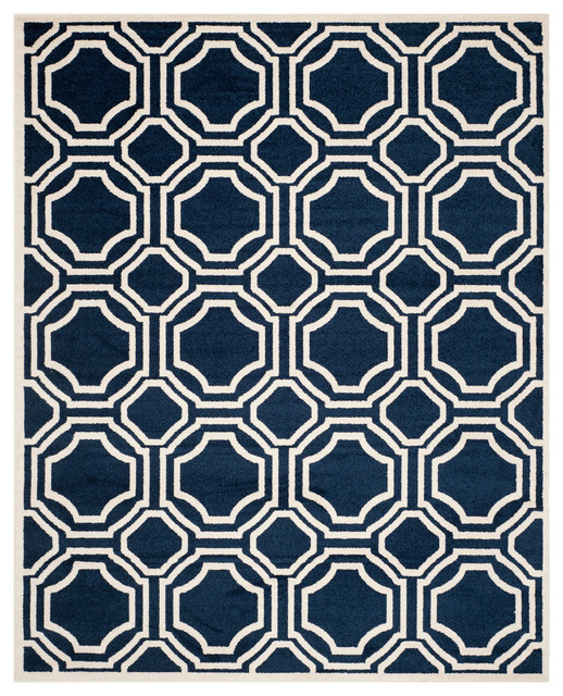 Safavieh Majorca Rug, Navy And Ivory, 9&x27;x12&x27;.