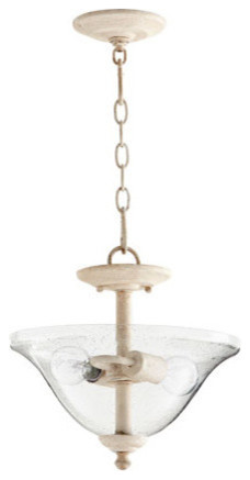 Spencer Transitional Light Dual Mount, Persian White With Clear/seeded.
