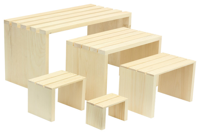 5-Piece Slatted Rectangle Risers