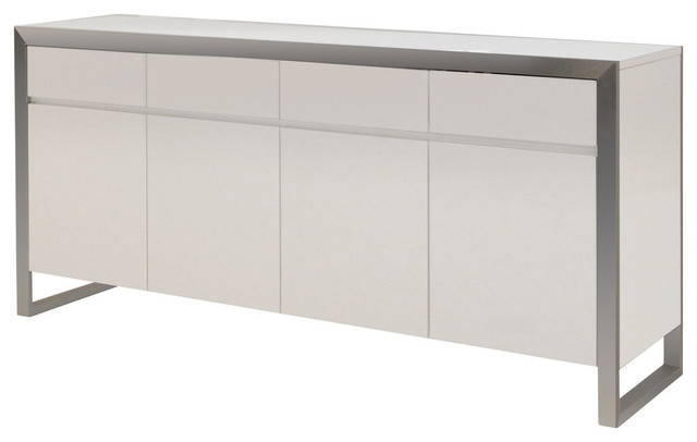 Mode High Gloss White Dining Buffet