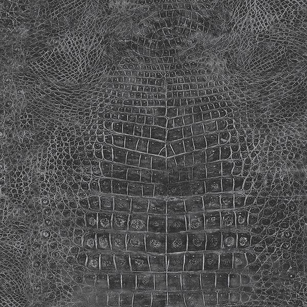 Faux Crocodile Skin Wallpaper Black Bolt
