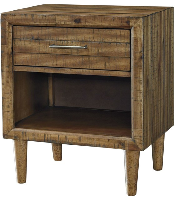 Ashley Furniture Broshtan 1 Drawer Nightstand Light Brown Midcentury Nightstands And Bedside Tables By The Sleepers Pe