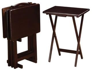 Coaster 5-Piece Tray Table Set, Cappuccino