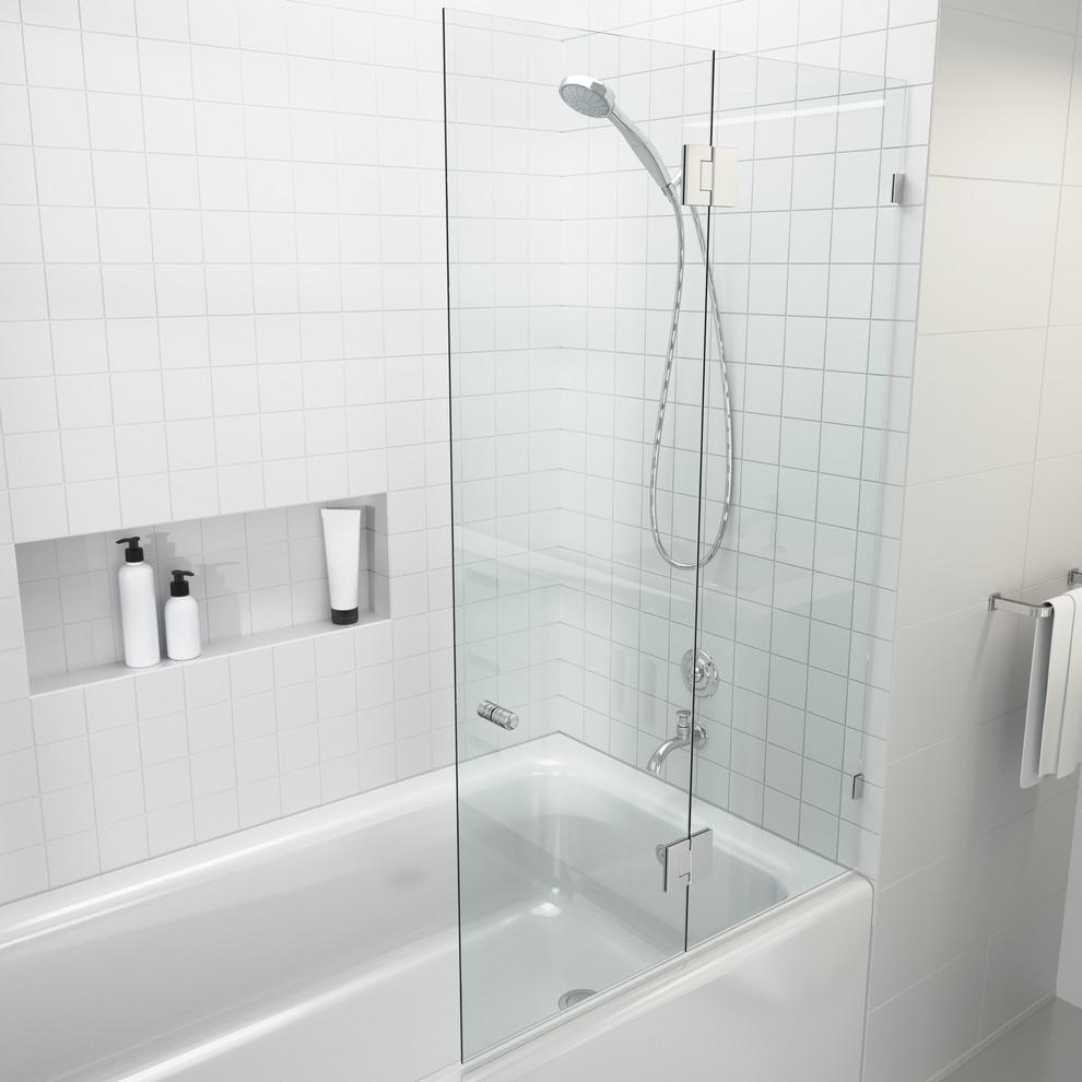 """58""""x34"""" Frameless Glass Bath Tub Shower Door, Glass Hung - Contemporary - Shower Doors - By Glass Warehouse"""