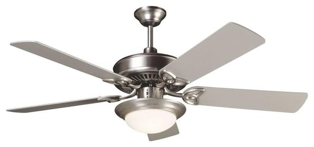 """Craftmade K10675 Cxl 52"""" 5-Blade Energy Star Indoor Ceiling Fan, Brushed Nickel."""