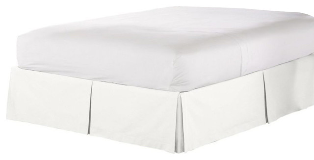 Solid White King Bed Skirt